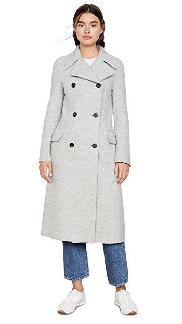Harris Wharf London Double Breasted Military Coat