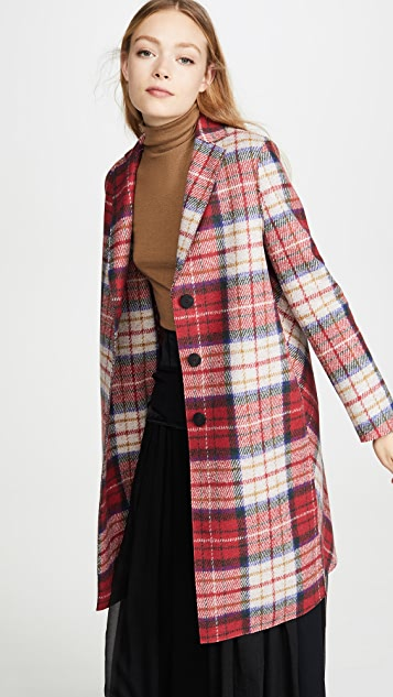 Harris Wharf London Пальто в шотландскую клетку