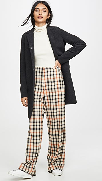 Harris Wharf London Boxy Polaire Coat