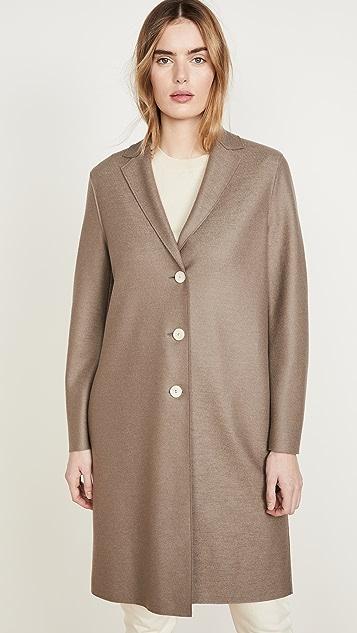 Harris Wharf London 大衣式轻盈压花羊毛夹克