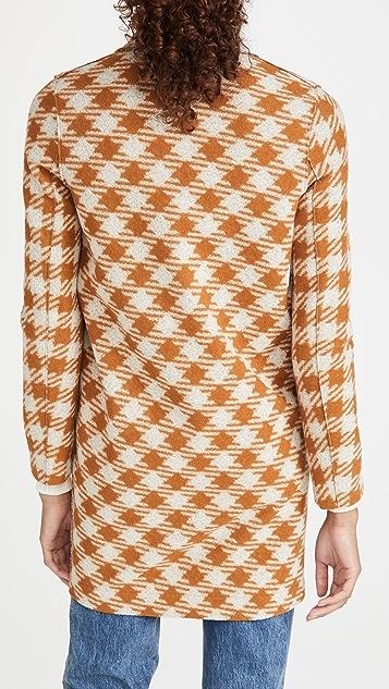 Harris Wharf London 超大格子茧型大衣