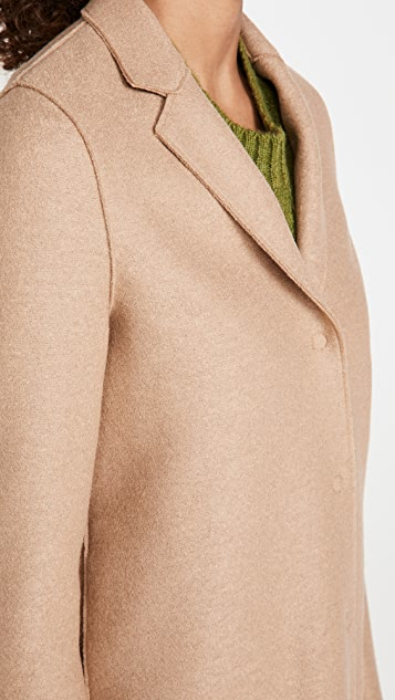 Harris Wharf London 茧型压褶羊毛大衣