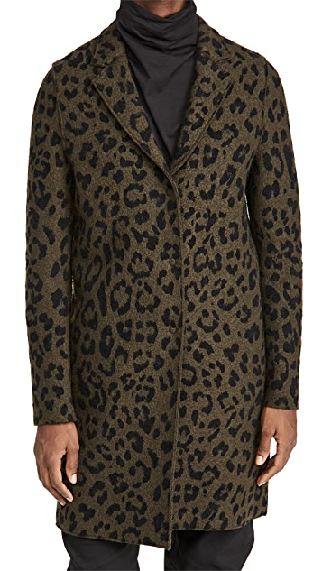 Harris Wharf London Cocoon Boiled Wool Coat