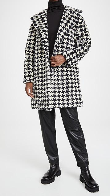 Harris Wharf London Dropped Shoulder Teddy Coat
