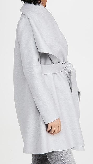 Harris Wharf London 压褶羊毛毯式大衣