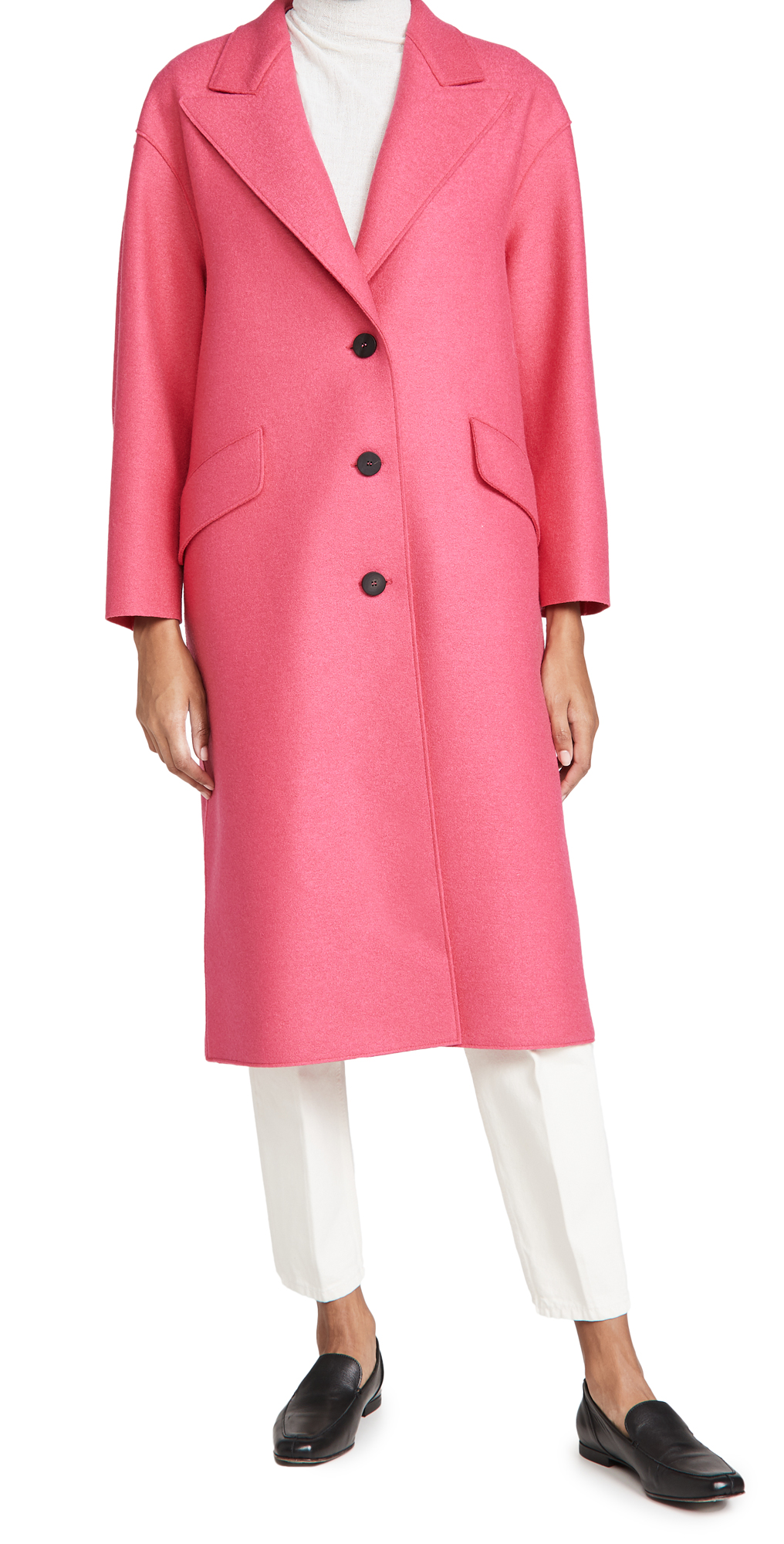 Harris Wharf London Pressed Wool Great Coat