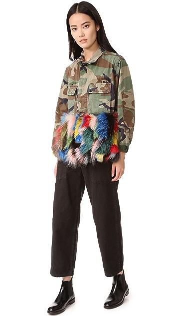 Harvey Faircloth Camo Multi Fur Jacket