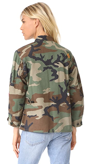 Harvey Faircloth Woodland Field Jacket with Patches