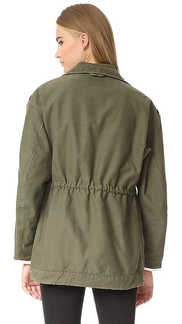Harvey Faircloth Fur Trimmed Field Coat