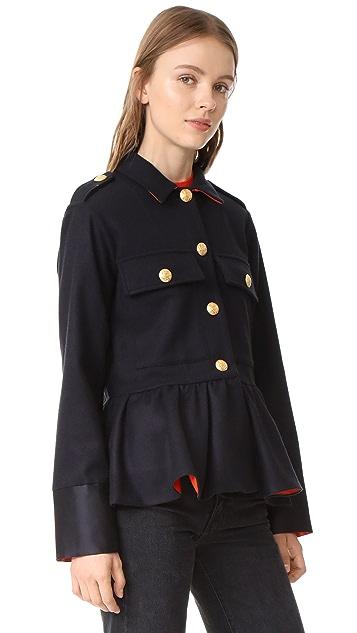 Harvey Faircloth Wool Peplum Jacket