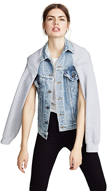 Harvey Faircloth Denim Cape Jacket