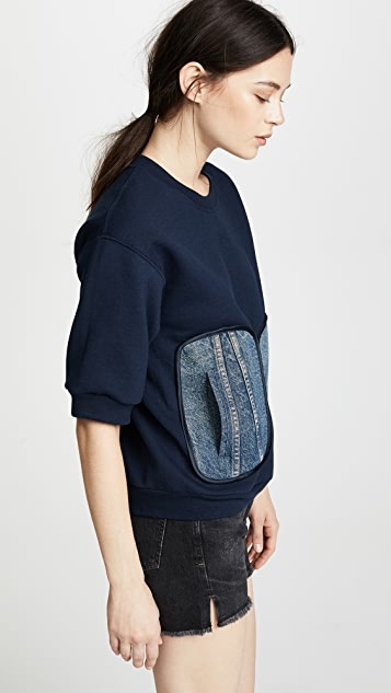Harvey Faircloth Sweatshirt with Denim Pockets