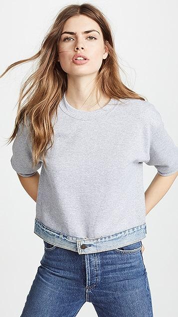 Harvey Faircloth Sweatshirt with Denim Waistband