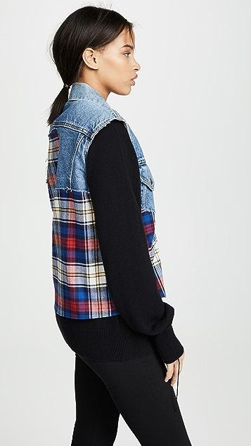 Harvey Faircloth Cutoff Denim Jacket