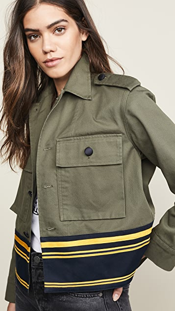 Harvey Faircloth Cropped Shirt Jacket