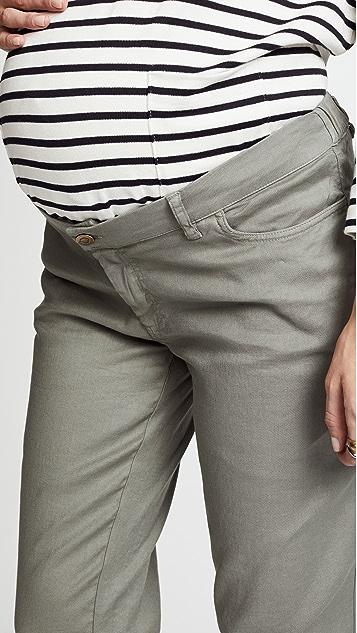 HATCH 男友风格斜纹裤
