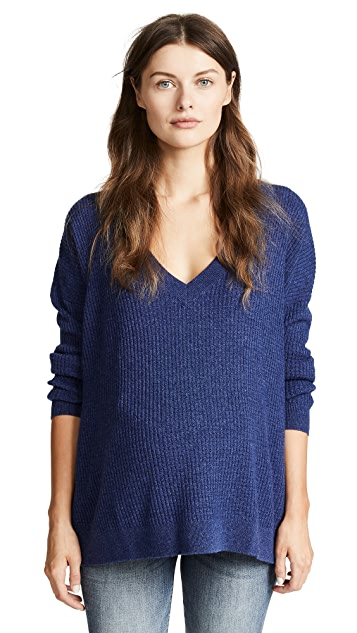 HATCH Простой свитер с V-образным вырезом