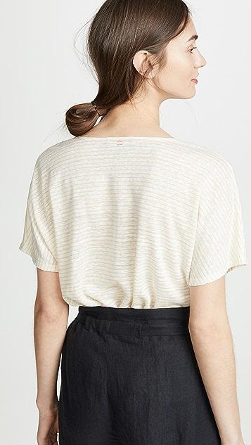 HATCH Льняная футболка Perfect с V-образным вырезом