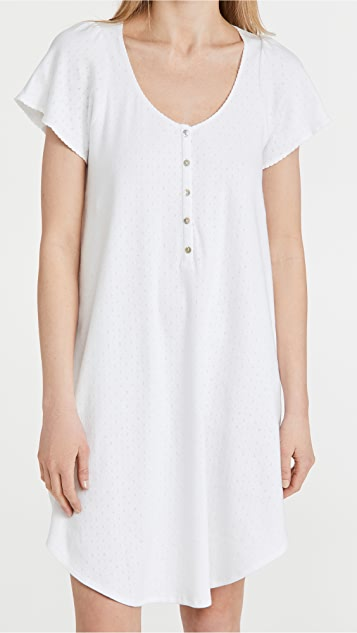 HATCH The Organic Pointelle Nightgown