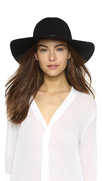 Hat Attack Wool Felt Round Crown Floppy Hat