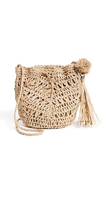 Hat Attack Raffia Pouchette Bag