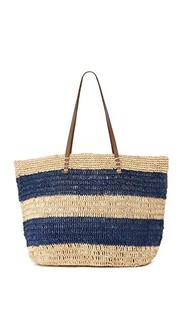 Hat Attack Ibiza Tote - Navy Stripe