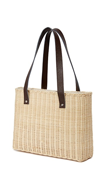 Hat Attack Wicker Basket Bag