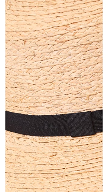 Hat Attack Raffia Braid Boater Hat