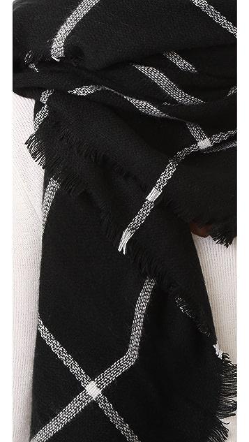 Hat Attack Windowpane Blanket Scarf