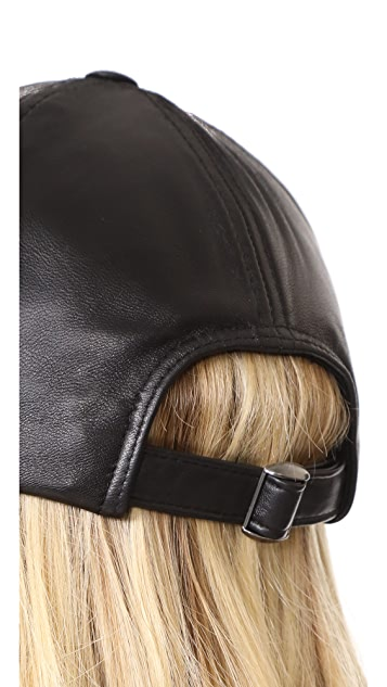 Hat Attack Leather Baseball Hat