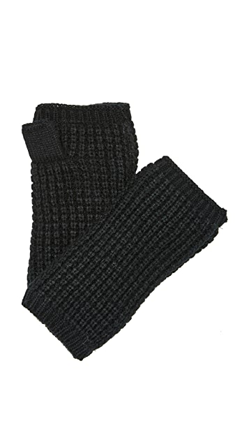 Hat Attack Waffle Knit Plush Arm Warmer