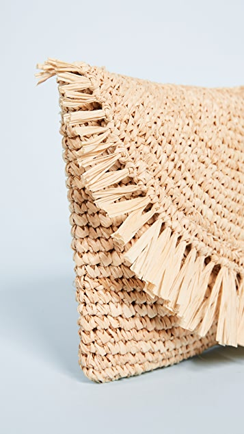 Hat Attack Sunshine Straw Clutch