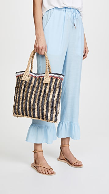 Hat Attack Stripe Handheld Tote