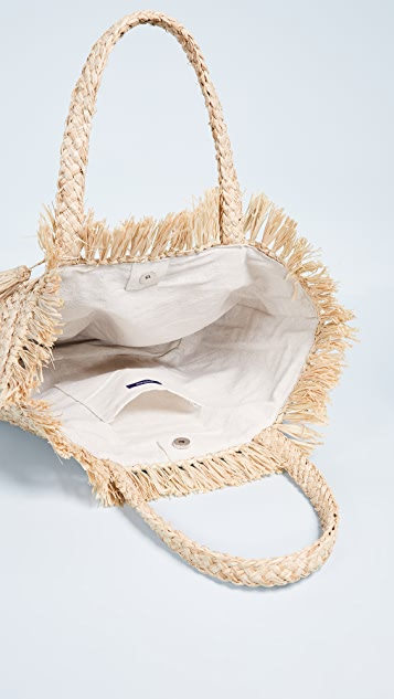 Hat Attack Frayed Top Tote Bag