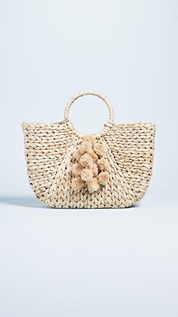 Hat Attack Round Handle Tote