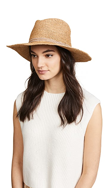 Hat Attack Raffia Crochet Continental Hat