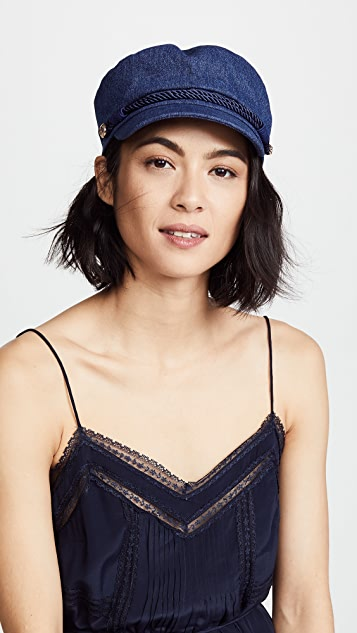 Hat Attack Denim Emmy Newsboy Cap