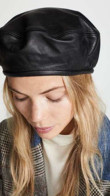 ... Hat Attack Leather Beret Hat ... 4afbe206eed