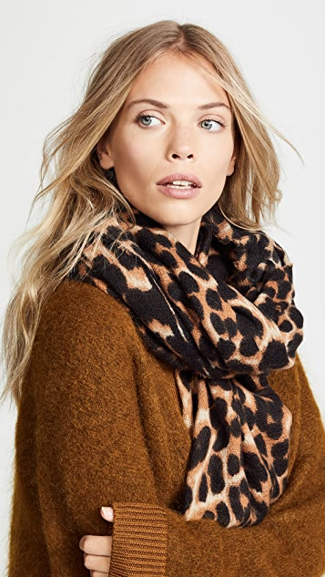 Hat Attack Leopard Scarf