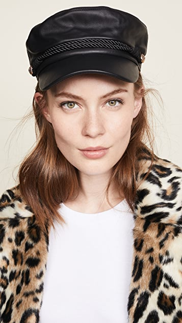 148566ab10b Hat Attack Leather Emmy Cap ...