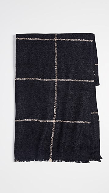 Hat Attack Box Windowpane Blanket Scarf