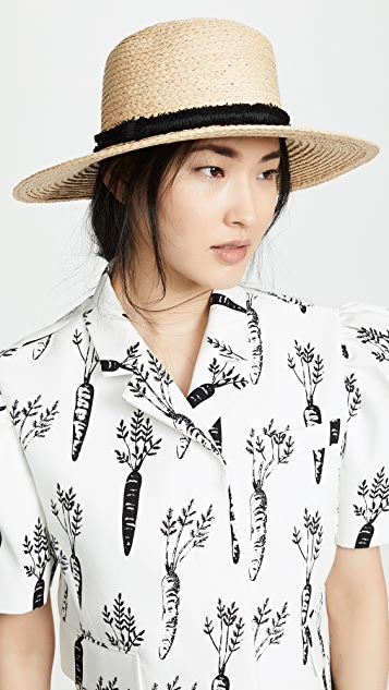 Hat Attack Classic Boater Hat - Natural