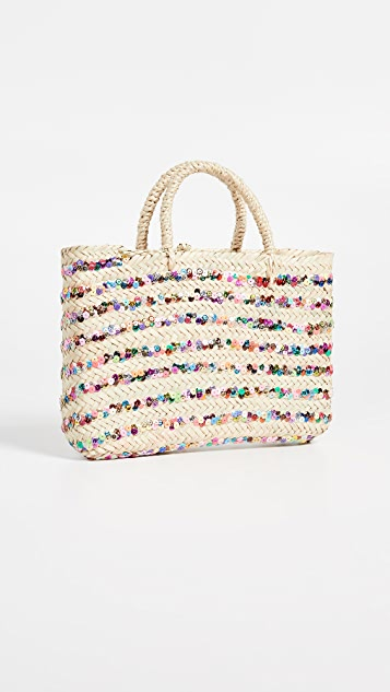 Hat Attack Sequin Stripe Bag