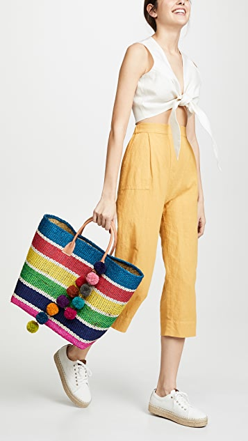 Hat Attack Large Provence Tote - Summer Stripe