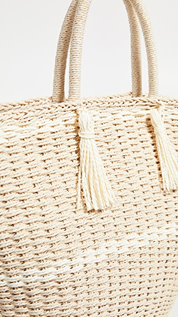 Hat Attack Large Soft Wicker Weave Tote