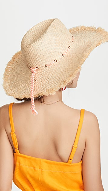 Hat Attack Потрепанные шляпа Rancher с завязками