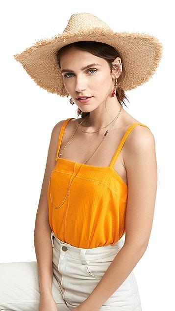 Hat Attack Drawstring Frayed Rancher Hat