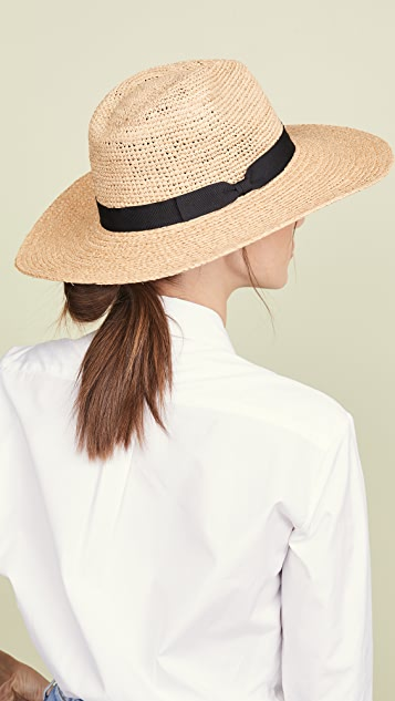 Hat Attack Mixed Raffia Continental Hat