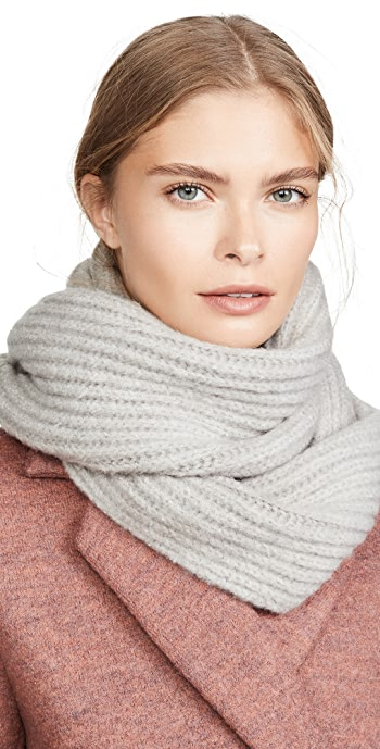 Hat Attack Lodge Loop Scarf - Light Grey