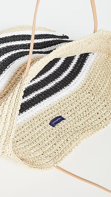 Hat Attack Объемная сумка с короткими ручками в полоску Trio